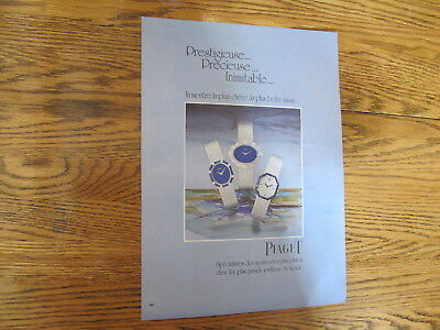 Vintage 1976, Piaget Watch Print Ad,clipping