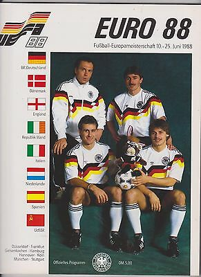 Official 132 Page Programme For The 1988 European Championships In Germany