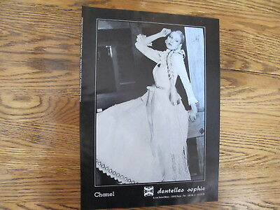 Vintage 1980, Chanel Dentelles Sophie Print Ad,clipping