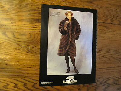 Vintage 1988,alexandre Fur Print Ads,clippings 3P.