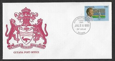 Guyana 1993 Cricket Rohan Kanhai Single Value Fdc