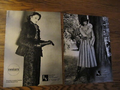 Vintage 1976,leon Vissot Fur Print Ads,clippings 2P.