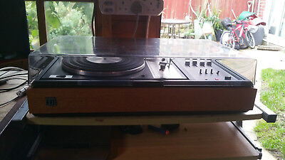 Vintage Dynatron record player, Goldring G102 spares or repair powers on.