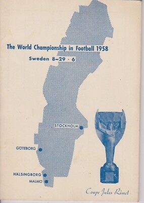 1958 World Cup In Sweden V.i.p./press Programme Very Rare England Scotland Wales
