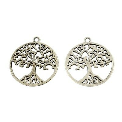 Tree Charm/Pendant Tibetan Antique Silver 25 x 28mm  20 Charms Accessory Crafts