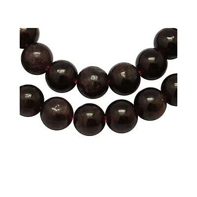 Garnet Round Beads 6mm Dark Red 55+ Pcs Gemstones DIY Jewellery Making Crafts