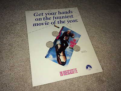 NAKED GUN Vintage Movie Promo Brochure Pressbook 1986 Leslie Nielsen Comedy