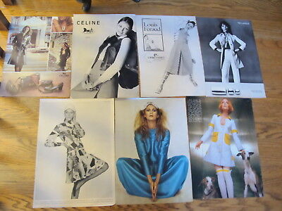 Vintage 1970/86 ,lot Fashion Print Ads,supermodels...