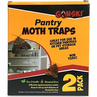 2 x Moth Glue Traps Pantry Eco Friendly Chemical Pesticide Free Pest Control Fly