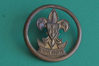 Old Metalic Boy Scout Badge - Portugal