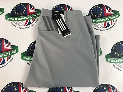 """Adidas Golf 2017 Ultimate 365 3-Stripes Tapered Trousers Mid Grey W32"""" X L32"""""""