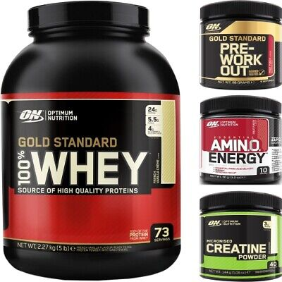 Optimum Nutrition ON 100% Gold Standard Whey Protein+Free Creatine Or PreWorkout