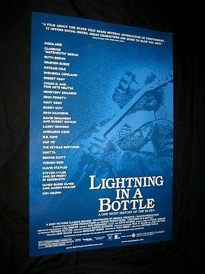 Original 2004 LIGHTNING IN A BOTTLE 2 Sided Theatre Poster BB KING Blues Tribute