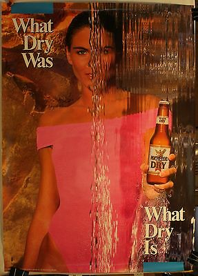 """1989 Michelob Dry Beer 20 x 28"""" Poster Sexy"""
