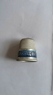 Old Aluminium advertising thimble. Blue top. Edwards dessicated  soup