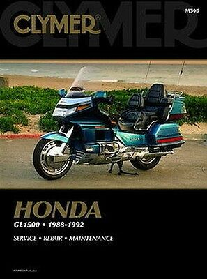 Honda GL1500 Gold Wing Aspencade Interstate 1988-1992 Clymer Manual M505 NEW