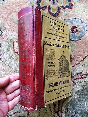 1929-30 MARION, INDIANA CITY DIRECTORY w/ EVERY RESIDENT'S NAME ADDRESS & TRADE