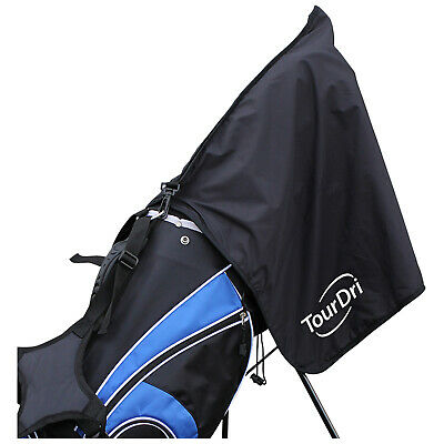 TourDri 2 In 1 Bag Rain Hood & Towel - New Masters Golf Black Cover Waterproof