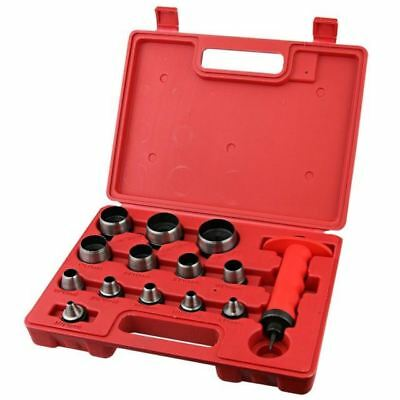 13Pc Heavy Duty 5Mm To 35Mm Hollow Punch Set Hole Punch In Storage Case