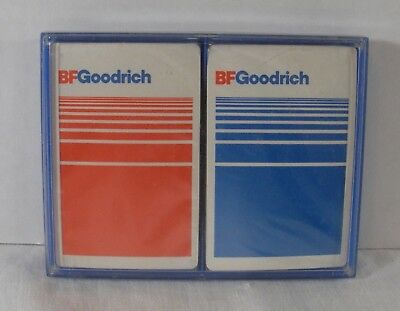 B F Goodrich Tire Company Playing Cards 2 Sealed Packs in Plastic Case