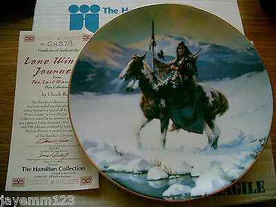 Horse Plate Indian The Last Warriors A Lone Winter Journey Hamilton Box + Cert