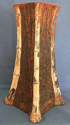 Antique Bretby Clanta Ware Tree Bark / Bamboo Vase