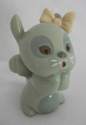 Rare Nao Daisa Lladro Porcelain Squirrel Figurine With Bow Wildlife