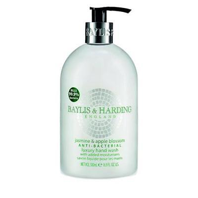 Baylis and Harding 4 x Anti Bacterial Hand Wash 500ml - Jasmine and Apple Blosso