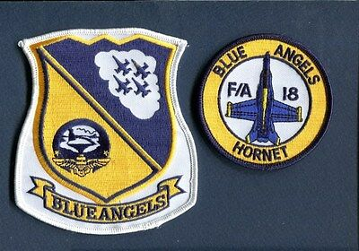 US NAVY BLUE ANGELS BOEING F-18 HORNET FLIGHT Demo Team Squadron Patch Set