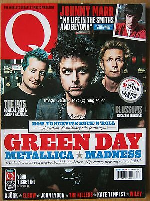 Q December 2016 Green Day Metallica Madness The 1975 Johnny Marr Smiths Blossoms