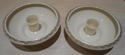Lenox Pair Candle Holders Gold Trim