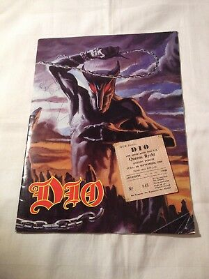 DIO -  Holy Diver 1983 SIGNED / AUTOGRAPHED PROGRAMME W/ TICKET - RONNIE JAMES