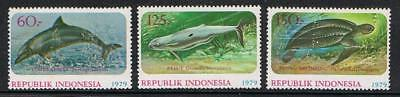STAMPS  INDONESIA 1979  MARINE LIFE   SG 1558-60  (MNH) lot 734