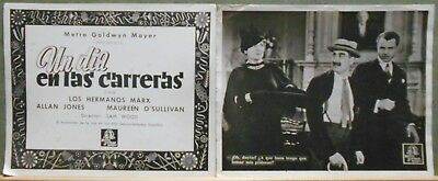 F27270 MARX BROTHERS A DAY AT THE RACES 2 orig MGM Lobby Card Spain
