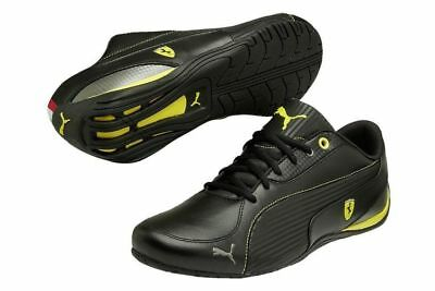 Nib Mens Puma 304946 01 Ferrari Drift Cat 5 Sf Nm Shoes Sneakers Black/yel