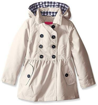 London Fog Big Girls Khaki Brushed Poly Trench Coat Size 7/8 10/12 14/16