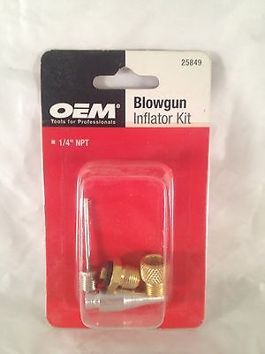 "Oem 1/4""  Blowgun Inflator Kit For Air Tool 25849"