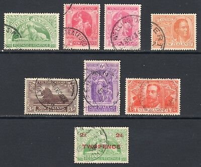 NEW ZEALAND 1920 Victory set + 1922 surcharge U, SG 453-9 cat £77