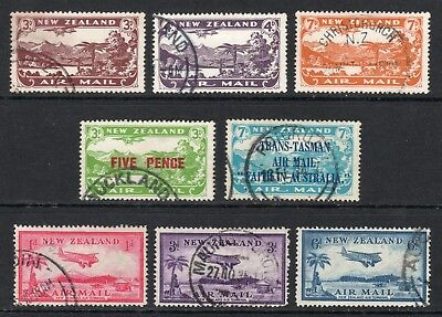 NEW ZEALAND 1931-35 Air Mails complete used, SG 548//572 cat £108