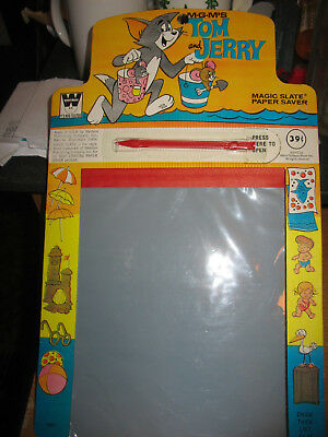 Vintage 1972 Tom and Jerry Magic Slate Paper Saver Whitman MGM
