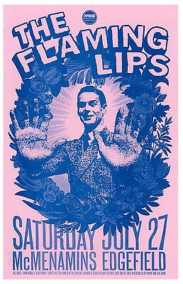 FLAMING LIPS 2013 Gig POSTER Edgefield Portland Oregon Concert Version  2 of 2