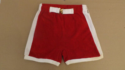 Vtg 60s NOS Terrycloth Buckle Front Swim Suit sz S 28-32  MOD Surf Shorts/Trunks