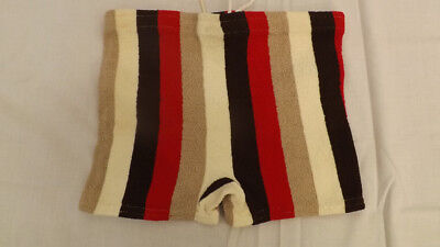 Vtg 60s NOS McKeevers Swim Suit Sz 28-38  VERY MOD Striped Surf Shorts/Trunks