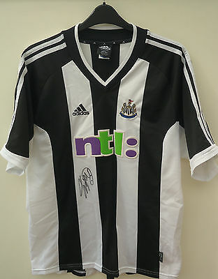 Newcastle United  Football Shirt Signed By Chris Waddle Size Xl