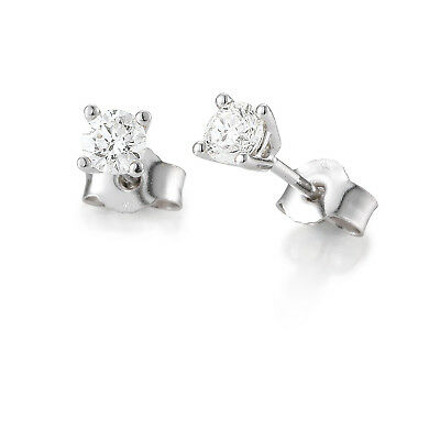 Ladies Brilliant Studs White Gold 01-84832-0 585 White Gold