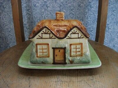 Vintage Paramount Pottery, Cottageware Butter/Cheese Dish - Overall VGC