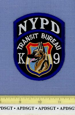 NEW YORK CITY TRANSIT K-9 NYC NY Sheriff Police Patch K9 DOG GERMAN SHEPHERD 3.5
