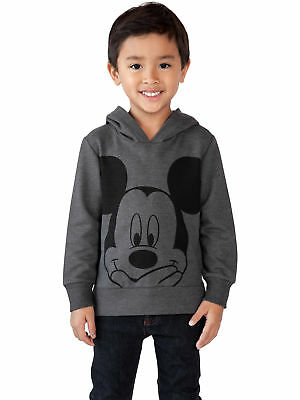Disney Mickey Mouse Toddler Boys Hoodie Sweatshirt with Ears Charcoal