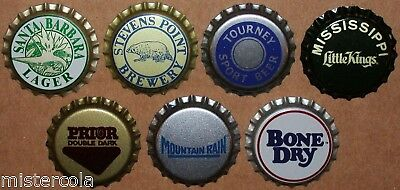 Vintage beer bottle caps MIXED BRANDS Collection of 7 different new old stock