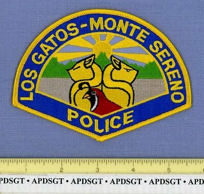 LOS GATOS • MONTE SERENO CALIFORNIA Sheriff Police Patch 2 CATS QUAIL BIRD